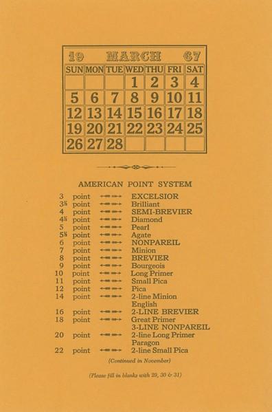 March, 1967, Morgan Press