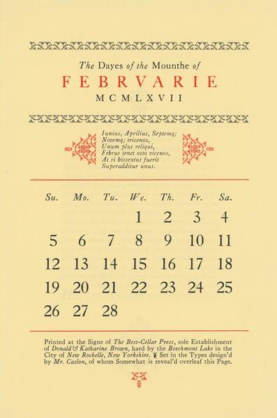 February, 1967, Best-Cellar Press
