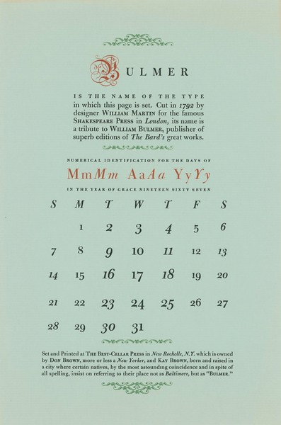 May, 1967, Best-Cellar Press