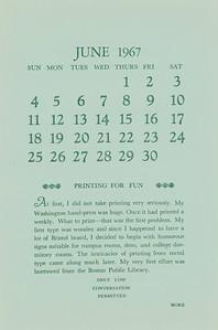 June, 1967, Heave-Ho Press