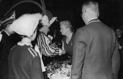 Prins Toon den Eerste bij het afscheid van burgemeester Hustinx