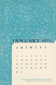 January, 1972, Out of Sorts Pres