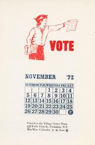 November, 1972, Village Green