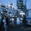 Disembarking at Le Havre (Dick Kopely, Diane Twomey, Dick Prince, Lura Stewart, Mimi Canedy, Elaine Hebert, Barbara Horne, Nancy Goodwin, Cindy Murray, Dan Stevens)