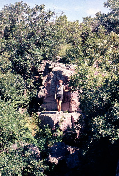 Barbara at Pipestone NM, MN, June 1969