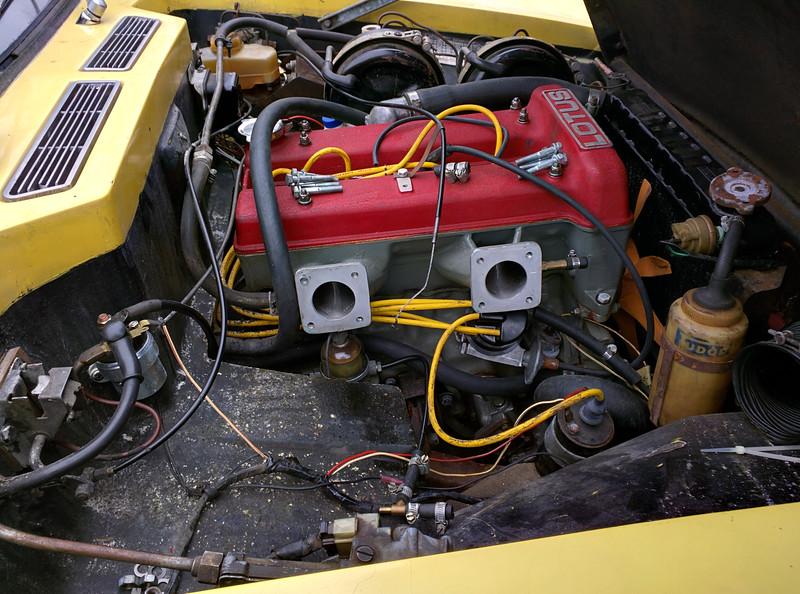 Carburettors removed for rebuilding.