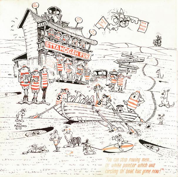 1977 Portsea SLSC Cartoon by Ken Maynard