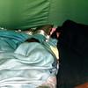 Kristi and Barbara camping at Sleepy Creek, WV, July 1971