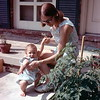 Kristi and Barbara on the porch at Rockville, MD, July 1971