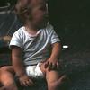 Kristi camping at Sleepy Creek, WV, July 1971