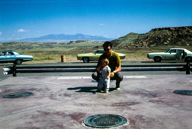 Kristi and Bob at Four Corners - September 1971