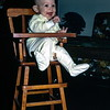 Kristi in a doll high chair, Lincoln, NE, January 1971