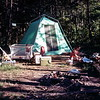 Camping at Sleepy Creek, WV, July 1971