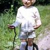 Kristi with a garter snake, WA, June 1973