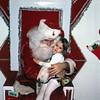 Kristi and Santa in Lincoln, Nebraska, 1973