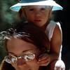 Barbara and Kristi hiking to Strawberry Lake, August 1973