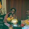 Kristi, Bob and Harvey Reynolds, Bob's birthday, June 25, 1973, Bellevue, WA