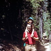 Kristi and Bob hiking to Strawberry Lake, OR, August 1973