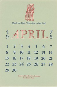 April, 1973, Herity Press