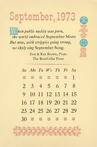 September, 1973, Best-Cellar Press