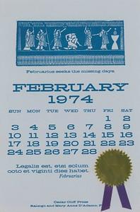 February, 1974, Cedar Cliff Press