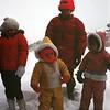 Kristi and Scott Reynolds and the Pugh kids, Thanksgiving, Yellowstone NP, November 1975