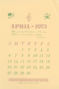 April, 1975, Wyvern Press