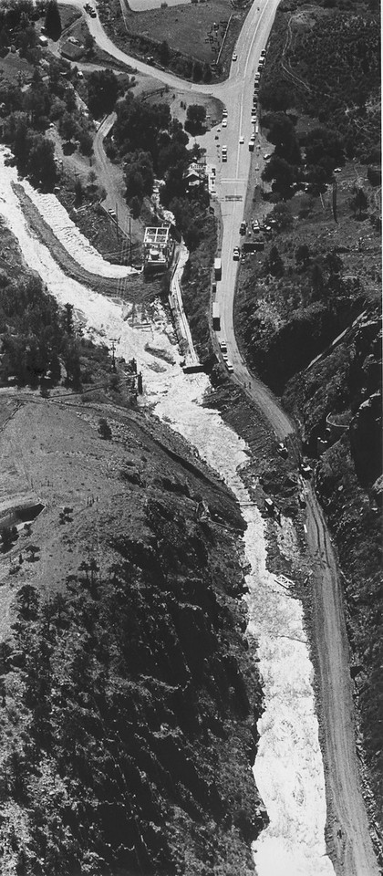 Aftermath of the Big Thompson Flood that occurred on July 31, 1976. (Loveland Reporter-Herald File Photo)