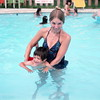Swimming with Aunt Carol, Lincoln, NE, June 1976
