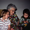 Kristi and Scott with Great-granny Myrtle Drewett, Prairie City, OR, January 1976