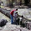 Old water line in Utah, October 1976
