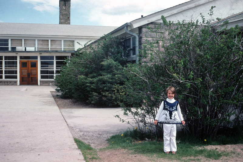 Kristi at the Loa Elementary School, Loa, UT, May 1976