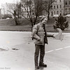 Fritz Foster with our Thumb - Hitch Hiking toward Barcelona - Dec 27 1977