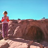 Kristi, Cassidy Arch Trail, Capitol Reef NP, UT, January 1977