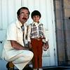 Scott and Rev Errol Ford for Scott's baptism, Richfield, UT, Augst 1978