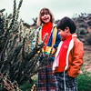 Kristi and Scott examine a cholla, Arizona, March 1978