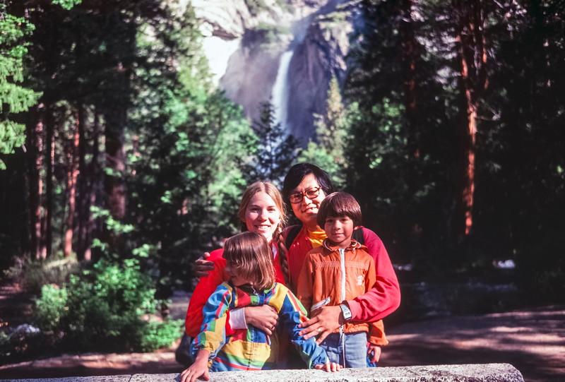 Carol, Paul, Kristi and Scott at Yosemite NP, CA, June 1978