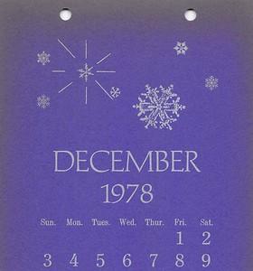December, 1978, Cedar Cliff Press