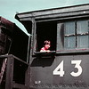 Scott on the train at the Stuhr Museum, Grand Island, NE, July 1979