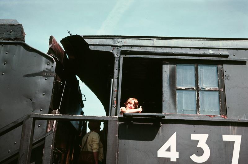 Scott and Kristi on the train at the Stuhr Museum, Grand Island, NE, July 1979