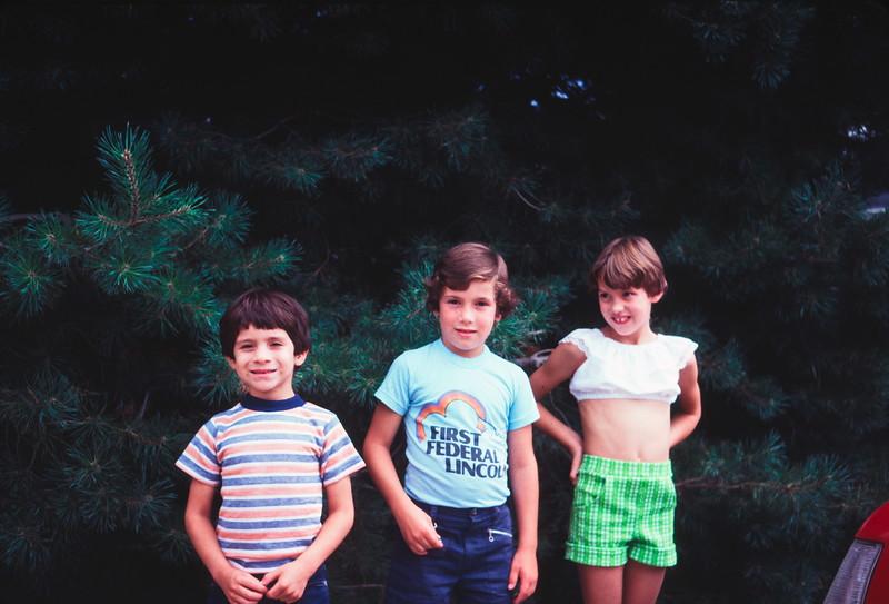 Scott, Kristi and Scott Kahre, Lincoln, NE, August 1979