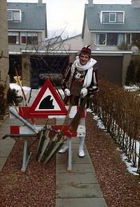 Prins Piet als wegwerker