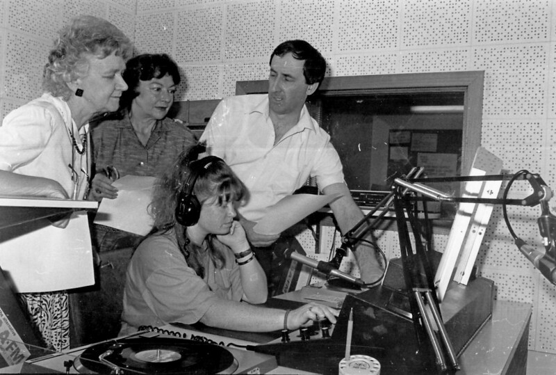 Dawn Wilson, Enid Witt, David Font with Martine Kilo at console