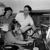 Dawn Wilson, Enid Witt, David Font with Martine Kilo at console