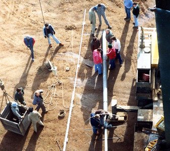 1982: 2AAA transmitter being erected