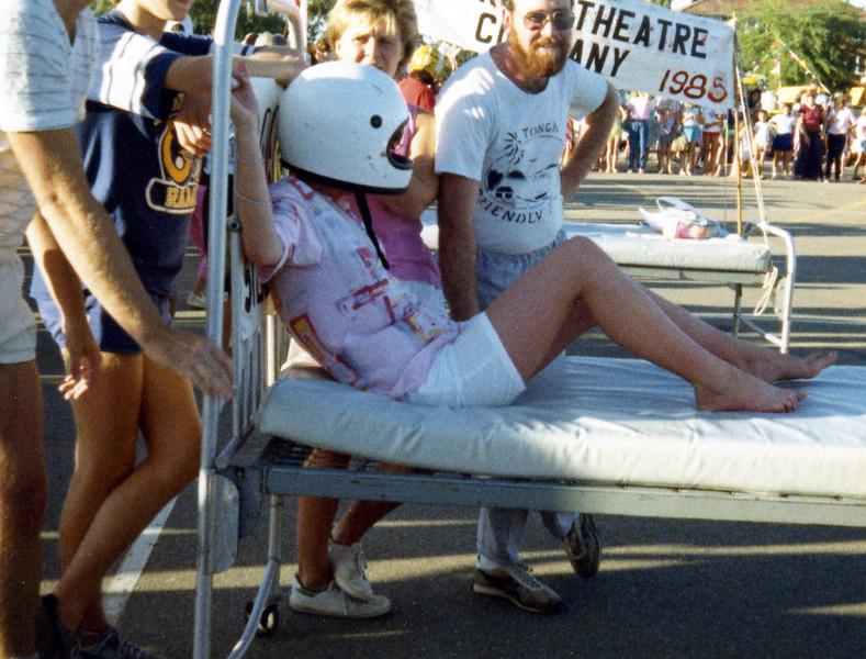 1985 Gumi Festival Bed Race: Joanne & Steve Gray