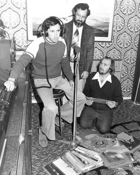 David Font (seated), Bevan Walls (standing) and John Knight (kneeling)