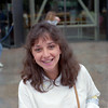 Sylvia Correa of Mira Flores, Peru'. We shared a pretzel and a chat at the Smithsonian Air and Space Museum. Wonder what she's up to? May, 1987