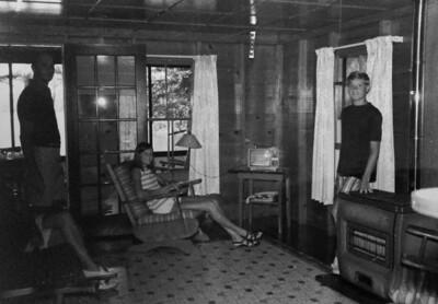 Interior cabin #105, 1971