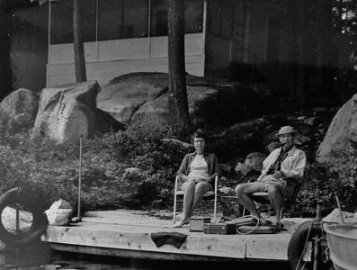 Enjoying the dock, 1971